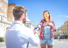 Proposition de mariage Images stock