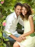Proposition de mariage au jour de valentine Photos stock