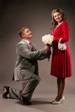 Proposition du mariage 3 photos libres de droits