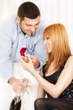 Proposition du mariage Photos stock