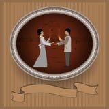 Proposta de união e um presente do anel Foto de Stock