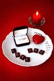 Proposta di matrimonio, nozze e concetto di amore Immagine Stock Libera da Diritti