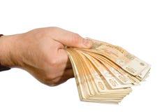 Proposta di prestito dei soldi di finanze di affari fotografia stock libera da diritti