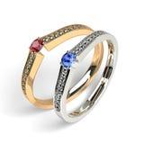 Propozycja pierścionki Fotografia Royalty Free