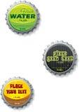 proppar för bottlecaplockclose stock illustrationer