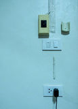 Proppuppladdare med batteriet Fotografering för Bildbyråer