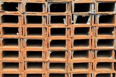 Propra rader av kanalstål Royaltyfria Foton