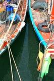 Propre рыболовов маленькой лодки моря Стоковые Фото