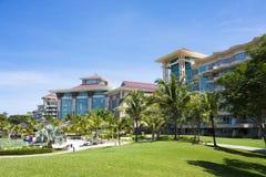 Propriété avant de plage, Brunei photographie stock libre de droits