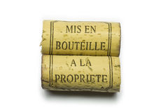 Propriété del la del à del bouteille del en del Mis Fotografía de archivo libre de regalías
