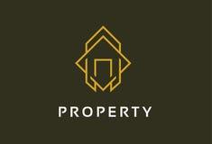Propriété Logo Template Design Vector, emblème, concept de construction, symbole créatif, icône Photographie stock libre de droits