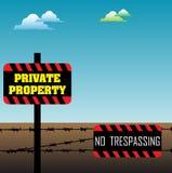 Propriété privée Photo libre de droits