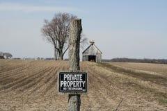 Propriété privée 2 Photographie stock libre de droits
