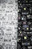 Propriétés immobilières sur le tissu photographie stock libre de droits