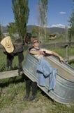 Propriétaire d'un ranch de Joe Image stock