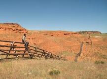 Propriétaire d'un ranch de montagne Images libres de droits