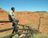 Propriétaire d'un ranch de montagne Photos libres de droits