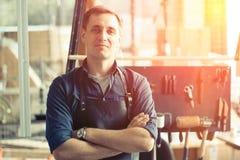Propriétaire en cuir d'atelier Image libre de droits