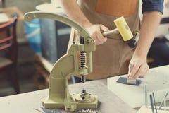 Propriétaire en cuir d'atelier Photographie stock libre de droits