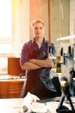 Propriétaire en cuir d'atelier Photo libre de droits