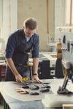 Propriétaire en cuir d'atelier Photo stock