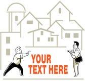 Propriétaire et vrai agent immobilier Images libres de droits
