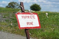 Propriété Privé Royalty Free Stock Photo