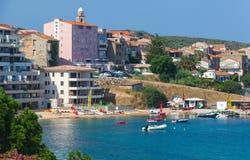 Propriano度假村,可西嘉岛海岛,法国 免版税库存图片