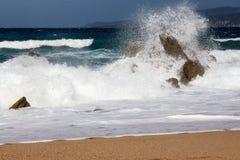 Propriano海滩在Corse -法国 免版税库存图片