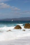 Propriano海滩在Corse -法国 免版税库存照片