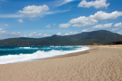 Propriano海滩在Corse -法国 库存照片