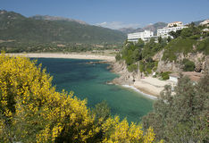 Propriano bay, corsica. The bay of Propriano in Corsica, in late spring Stock Image