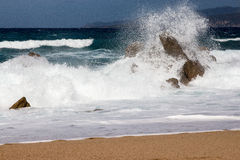 Propriano Beach in Corse - France Royalty Free Stock Images
