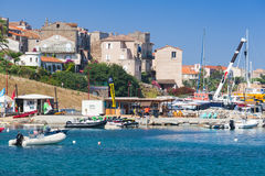 Propriano resort town, South region of Corsica. Propriano, France - July 4, 2015: Bay of Propriano resort town, South region of Corsica island, France. Pleasure Stock Image