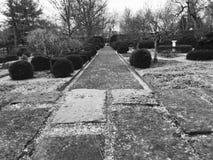 PROPRIEDADE de ASHLAND - uma caminhada através dos jardins - LEXINGTON - KENTUCKY - TIJOLO foto de stock