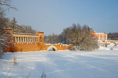 Propriedade de Marfino no inverno fotos de stock