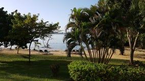 Propriedade de Montego Bay do riu de Jamica com opinião do mar Ilha de jamaica Foto de Stock Royalty Free