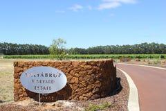 Propriedade do vinhedo de Wilyabrup em Margaret River, Austrália Fotos de Stock