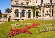 Propriedade e jardim bonitos Fotografia de Stock