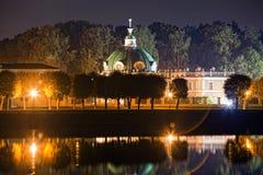 Propriedade Kuskovo na noite Foto de Stock Royalty Free