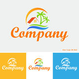 Propriedade no logotipo dos trópicos Fotografia de Stock