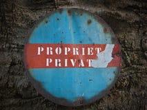 Propriedade privada Imagem de Stock