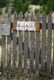 Propriedade privada Foto de Stock