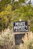 Propriedade privada Nenhum infrinjir Imagem de Stock