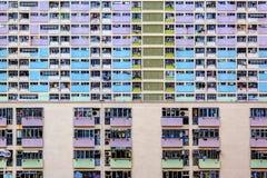 Propriedade residencial pública velha em Hong Kong fotografia de stock