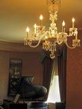 Propriedade Stockbridge miliampère Berkshires de Naumkeag do candelabro e do piano Fotografia de Stock