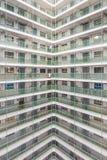 Propriedade velha da arquitetura de Hong Kong Residential, China imagens de stock