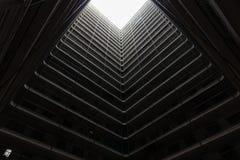 Propriedade velha da arquitetura de Hong Kong Residential, China fotografia de stock