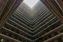 Propriedade velha da arquitetura de Hong Kong Residential, China foto de stock royalty free