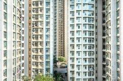 Proprietà ad alta densità dell'edilizia popolare, Hong Kong Fotografia Stock Libera da Diritti